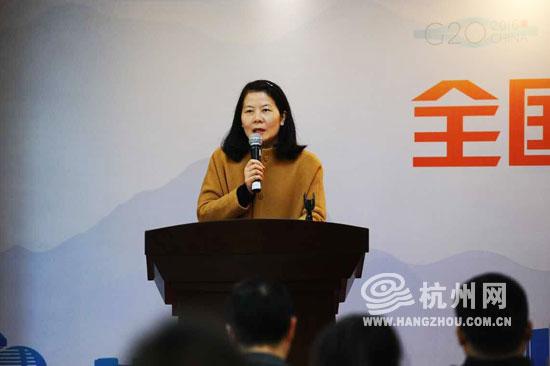 杭州网董事长、总编辑严勤介绍活动情况