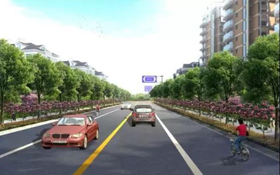 路_天城单元闸皋路(秋涛路-天台山路)道路工程效果图
